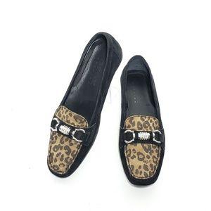 Geox Loafers Women Horsebit Slip OnLeopardSize 7